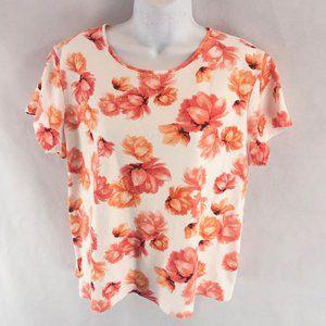 Croft&Barrow Orange Salmon T-shirt PXL